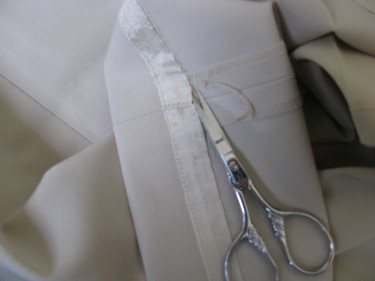 ripping out existing hem to hem pants, 052