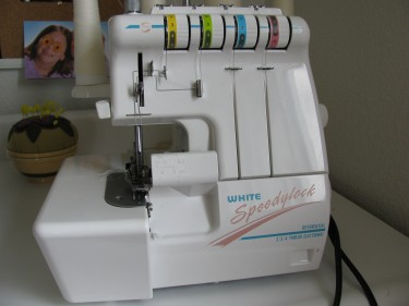 view of my serger, 134