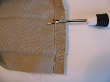 ripping out the seam for a tapered leg sewing blog 083