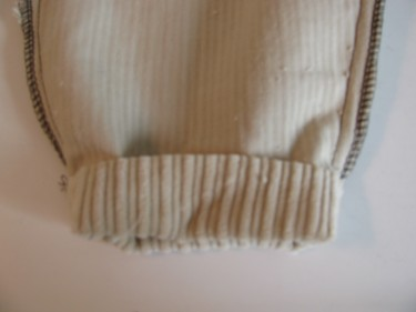 photo of a hem rolled up with a tapered leg