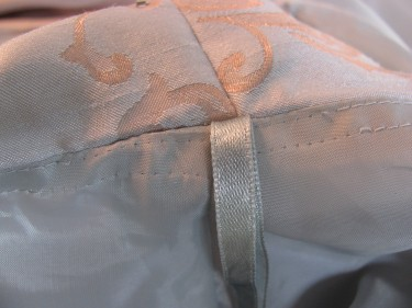 the ribbon is in the correct place, sewing blog 243