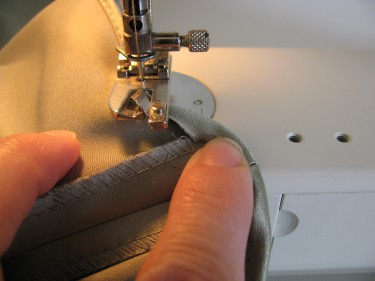 taking the hem off of the rolled hem foot so I can stitch the last few stitches, rolled hems, 457