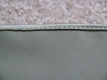 close up of a rolled hem, 461