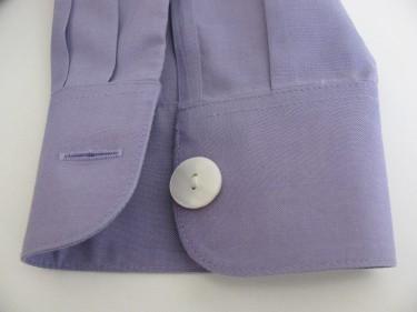 close up of cuff button, shorten sleeves, 653