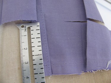 trimming off excess fabric, shorten sleeves, 657