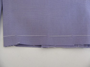 basting line, shortening sleeves, 658
