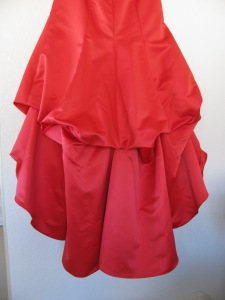 red dress with bustles, 767