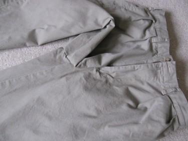 close up of inseam, hem using the inseam, #827