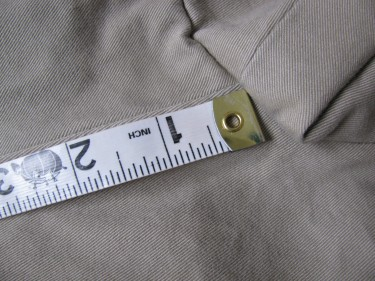 close up with measuring tape, hem using the inseam, #829