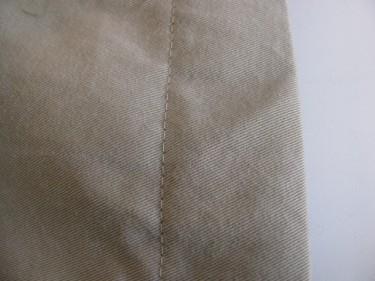 top stitch the hem, hem using the inseam, #847
