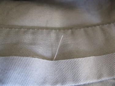 "fold up 1/2"", hem using the inseam, #854"