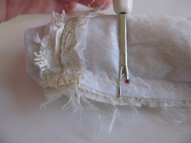 ripping out stitches on a wide shoulder strap