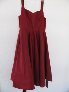 red dress, alterations with a challenge, 927