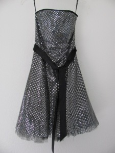 corset back #2 shiny black dress before corset