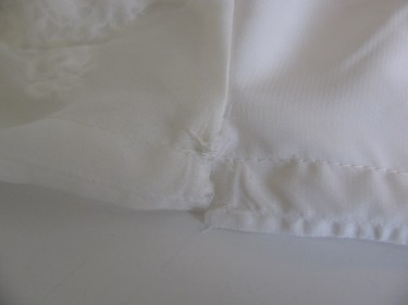 alter the chiffon and the lining of blouse, 1004