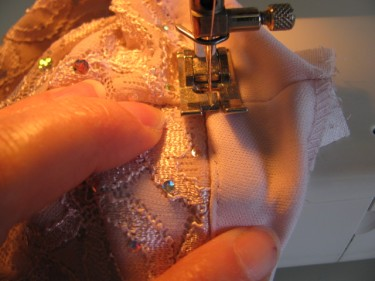 under stitching facing, side seams and facings, 1041