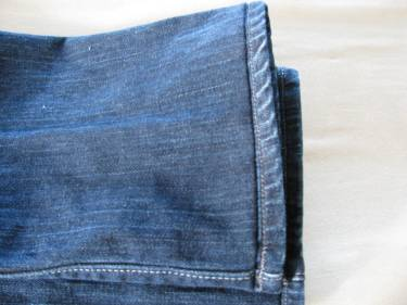 the view of the jeans from the right side