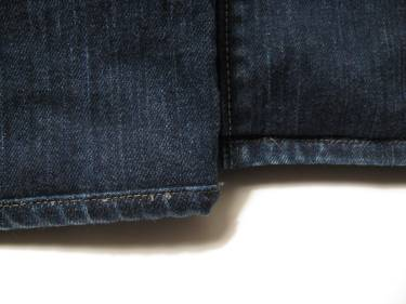 hemming jeans with 2 different techniques