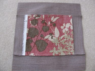 back side of pieced outdoor pillow, 1265