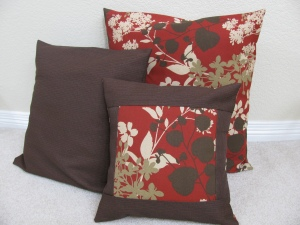 3 outdoor pillows