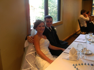 M and J at the bridal table, 347