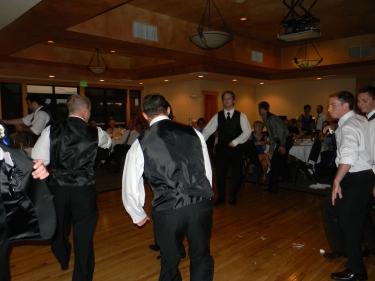 groomsmen on the dance floor, 425
