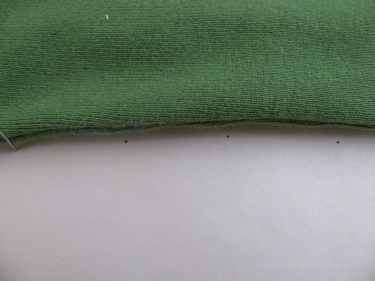pinning along side seam to make sewing pattern, 1357