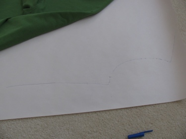 a view of the neckline, armhole and shoulder of new pattern, 1359