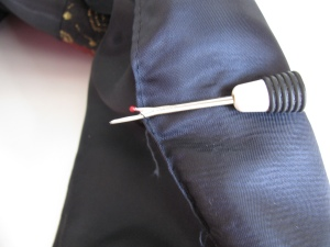 Unsew the lining seam of the English jacket