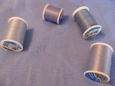 thread to match blue knit, elastic hem, 1432