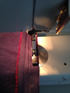 stitching down second side of zipper, easiest way ever, 6320
