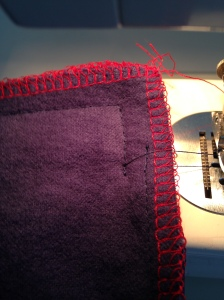 stitch around 3 sides of zipper and end like this, easiest way ever, 6326