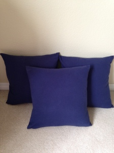 3 blue pillows finished, 6361