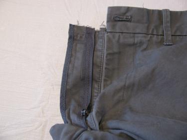 zipper cut off by manufacturer, jean zipper, 7130