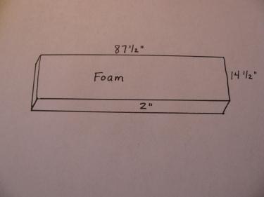 foam diagram, bench seat cover, part 1, image #7733