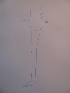 IMG_7750 diagram of side view of entire crotch length of the body, gussets for pants