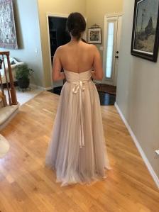 Finished dress - back