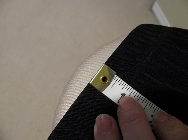 Measuring the dress from the waistline seam