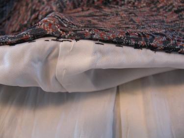 close up of tiny black stitches inside kimono, MG_7686