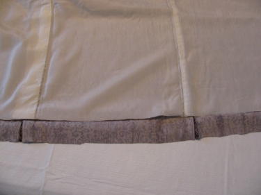 hemline after fabric and lining are cut, kimono, IMG_7706