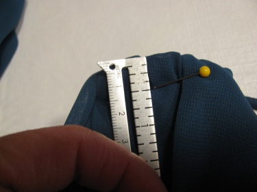 8161, using a seam gauge to measure how much to take up at the neck, how to raise the waistline in a dress without removing the zipper