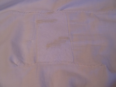 my first try at mending a bed sheet sewing blog 011