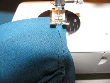 8174, stitch the trim piece back on to the new stitching line, how to raise the waistline in a dress without removing the zipper